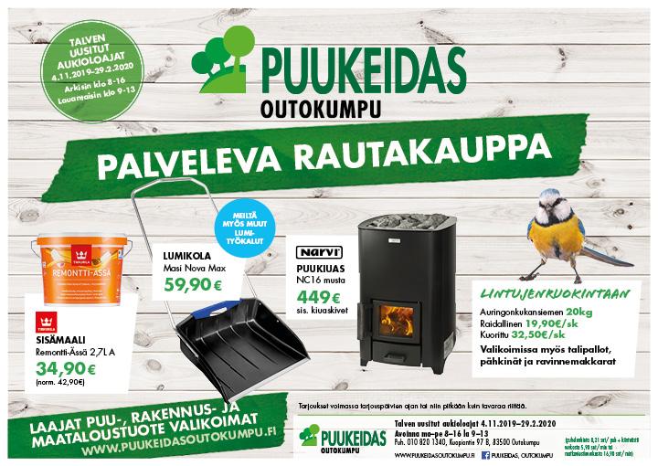 Puukeidas Outokumpu tarjoukset 24.10.2019